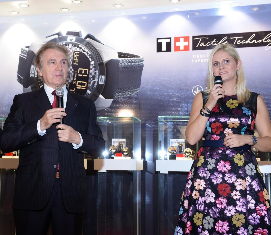 Francois Thiebaud  - Prezydent Tissot i Agnieszk a Ławniczak-Czajkowska - Brand Manager Tissot
