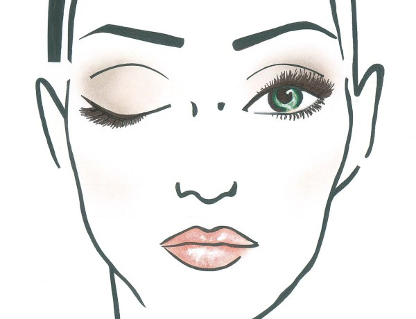 makijaż ślubny facechart
