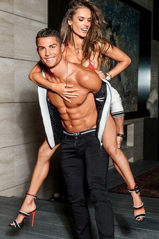 Cristiano Ronaldo & Alessandra Ambrosio\GQ