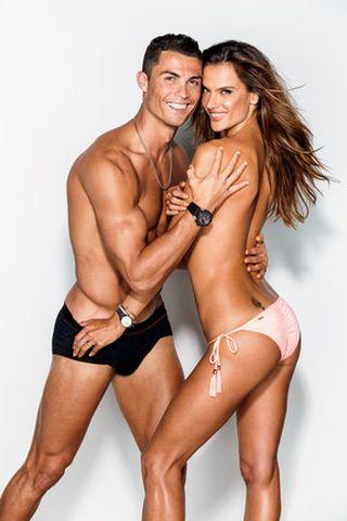 Cristiano Ronaldo & Alessandra Ambrosio\GQ\BEACHBODY