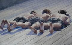 Galeria TSEKH Ievgen Petrov, Boys, 2016, watercolor on paper, 150x100 cm