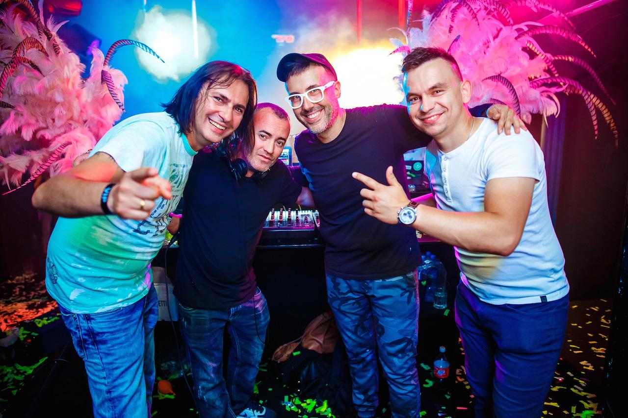 Mr Root, Felix Da Funk, DJ Adamus, DJ Pepe, fot. Bartko Debkowski _ Kreatyw!Media.pl