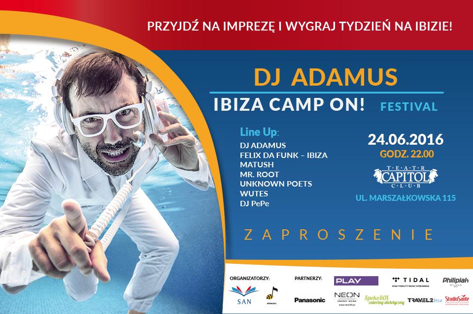 Zaproszenie Festival DJ Adamus