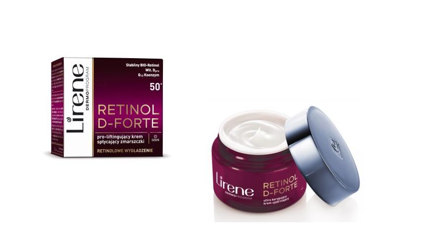 Zestaw od Lirene Retinol D-Forte 50+Kremy przeciwzmarszczkowe na dzień i na noc