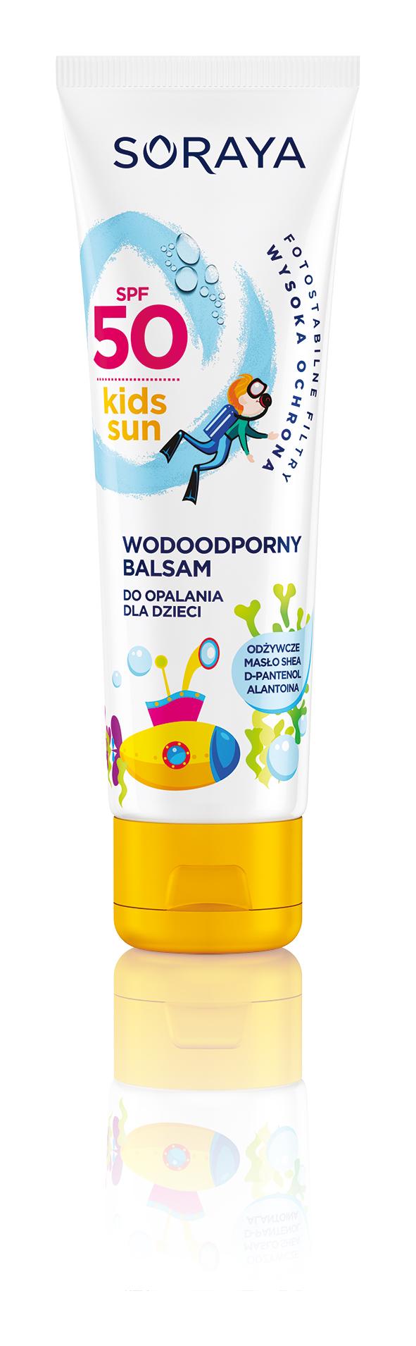 Wodoodporny balsam SPF50 do opalania dla dzieci