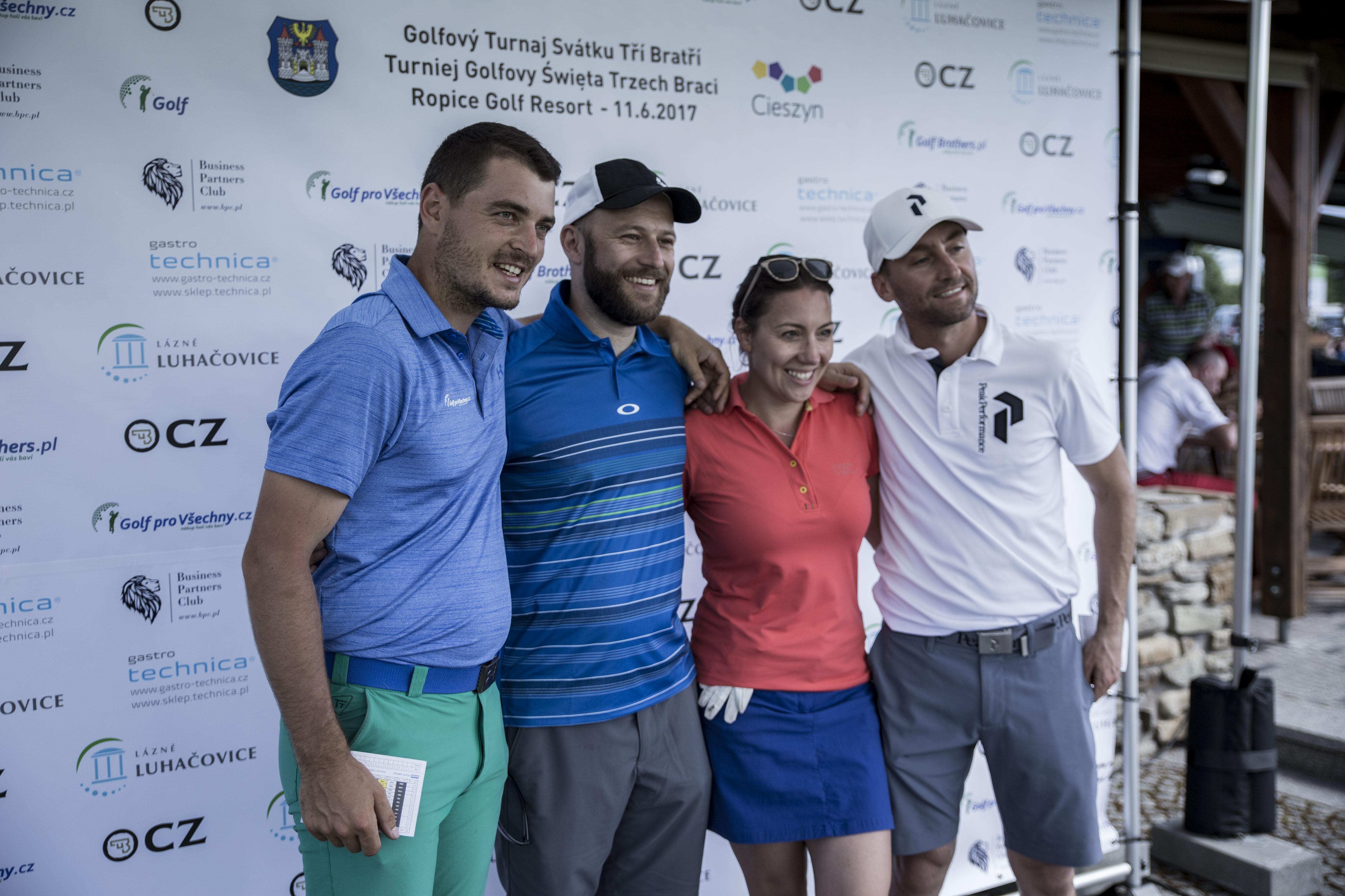 Tomáš Milata, Robert Szewczyk, Anna Kalinowska[golfandroll.pl], Michał Ligocki