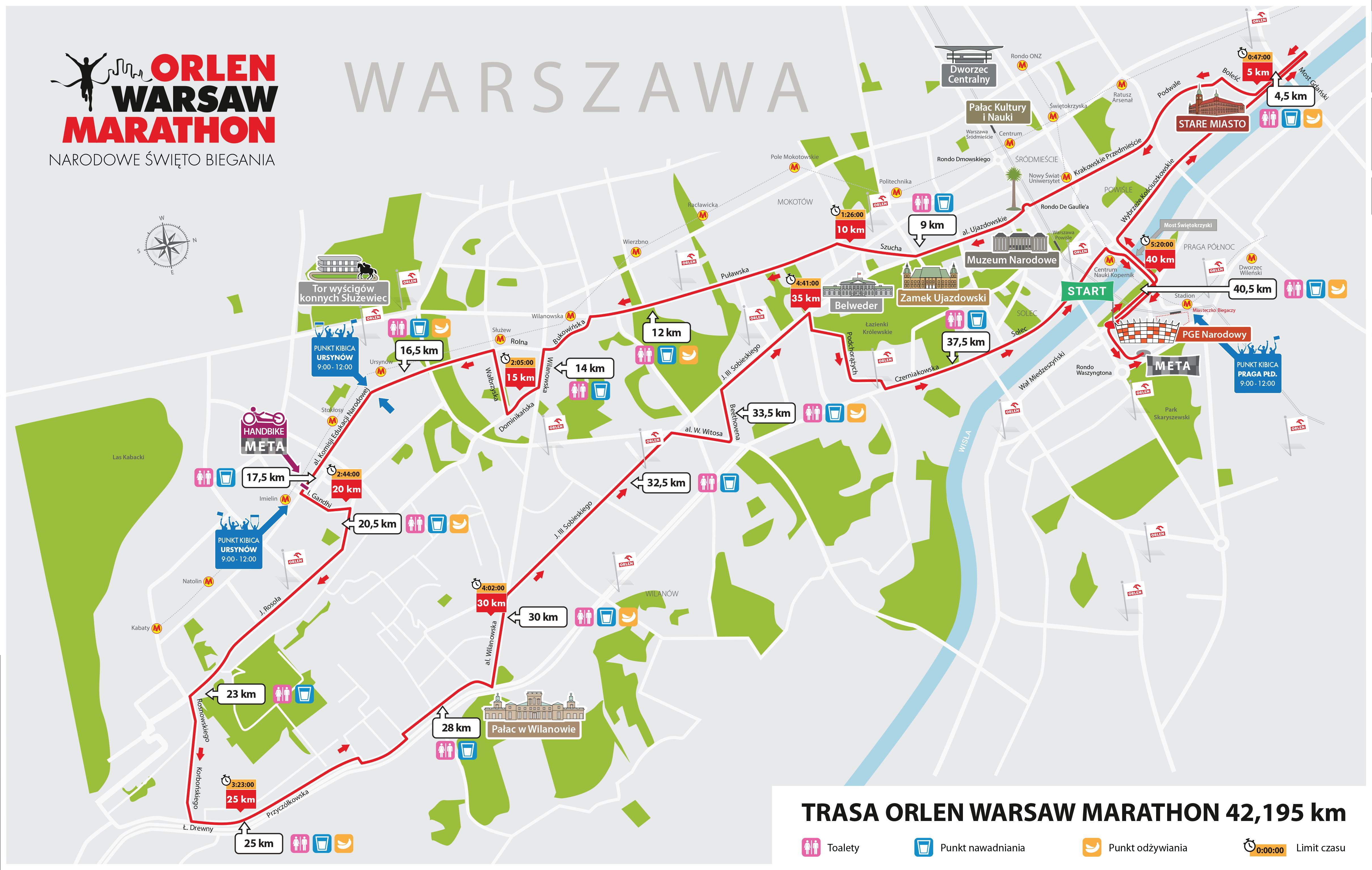 fot. materiały prasowe\mapa marathonu OWM 2018