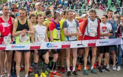 Event participants during the Wings for Life World Run in Poznan, Poland on May 7, 2017