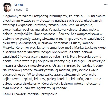 Screen: Facebook Kora