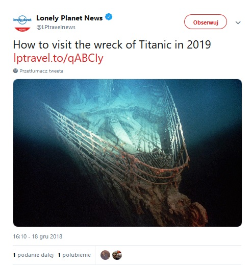 Screen: Twitter Lonely Planet News