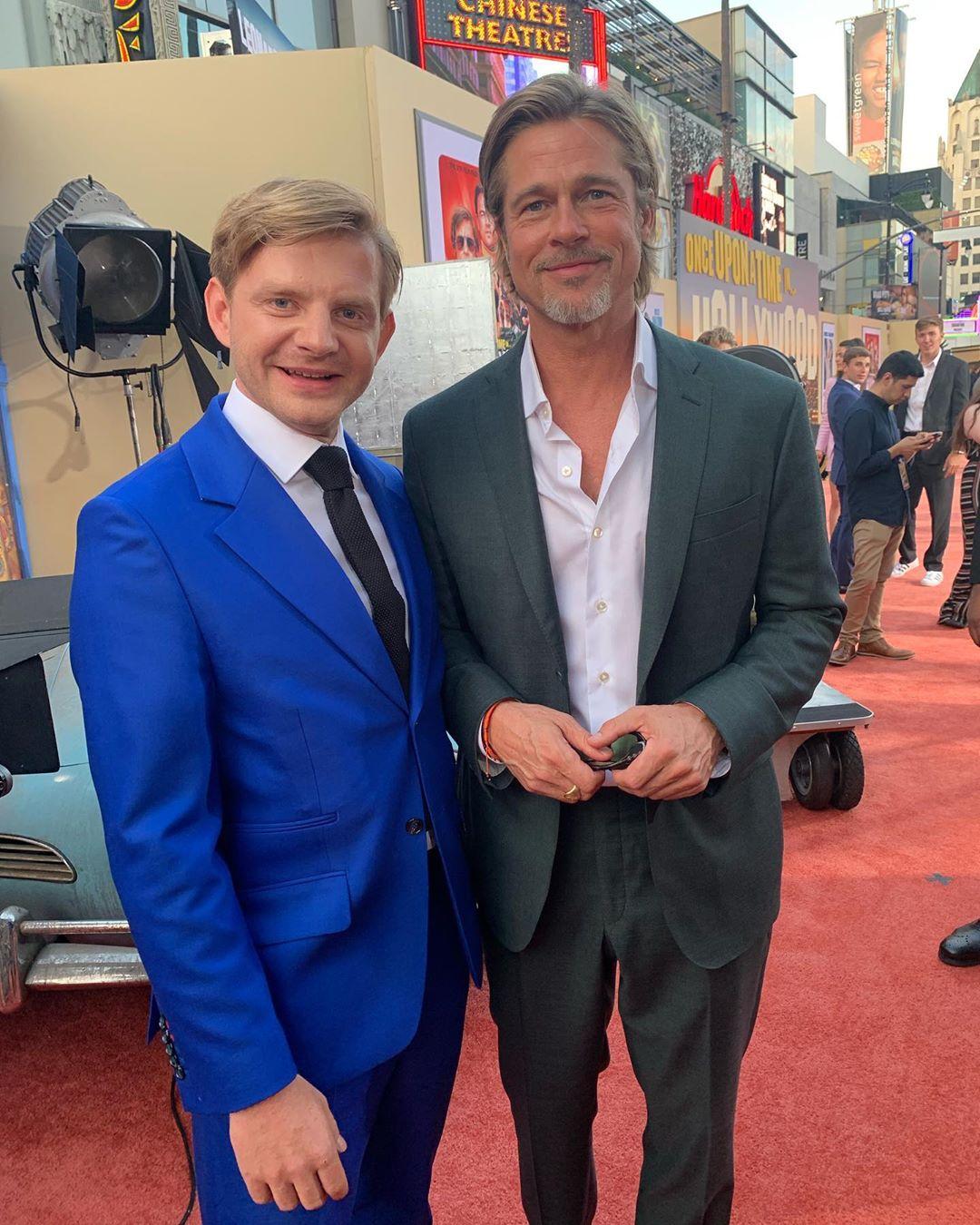 Rafał Zawierucha & Brad Pitt