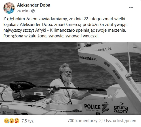 Pożegnanie Aleksandra Doby
